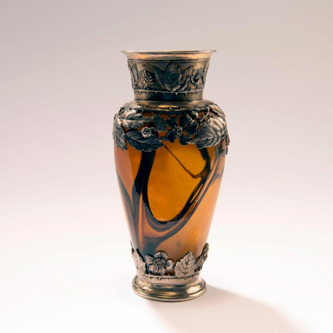 Vase with silver mounting by Maurice Guerchet, Paris,