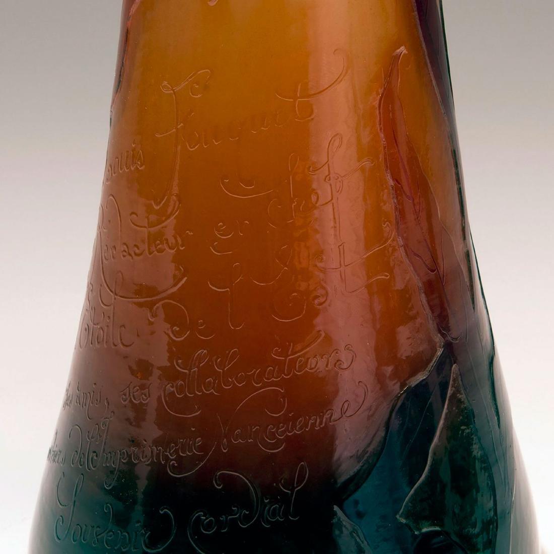Vase for Louis Fouquet, l'Etoile de l'Est, Nancy, - 3