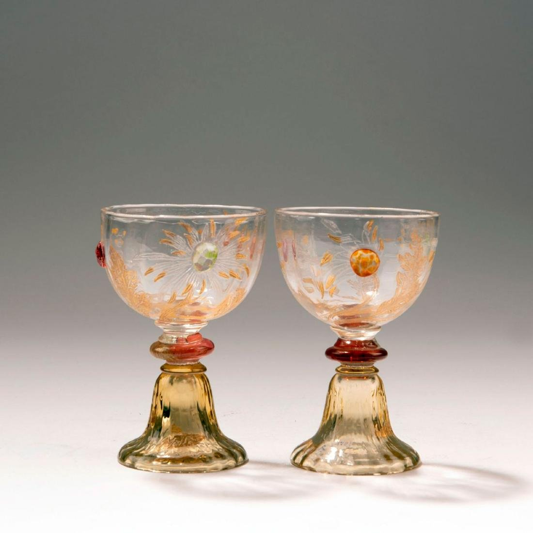 Two sherry glasses from the 'Chrysanthèmes' set, 1903 - 2