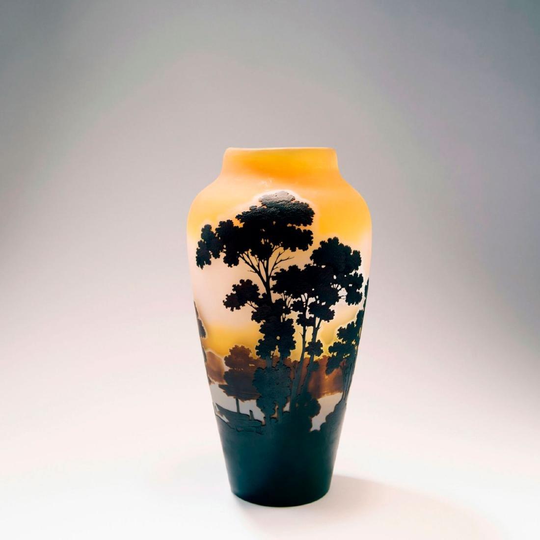 Tall 'Paysage lacustre' vase, 1908-14