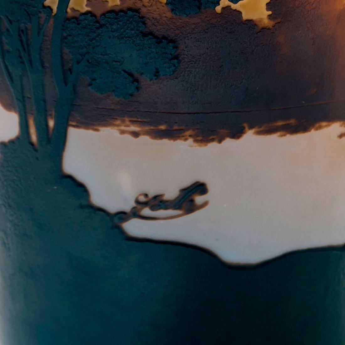 Tall 'Paysage lacustre' vase, 1908-14 - 3