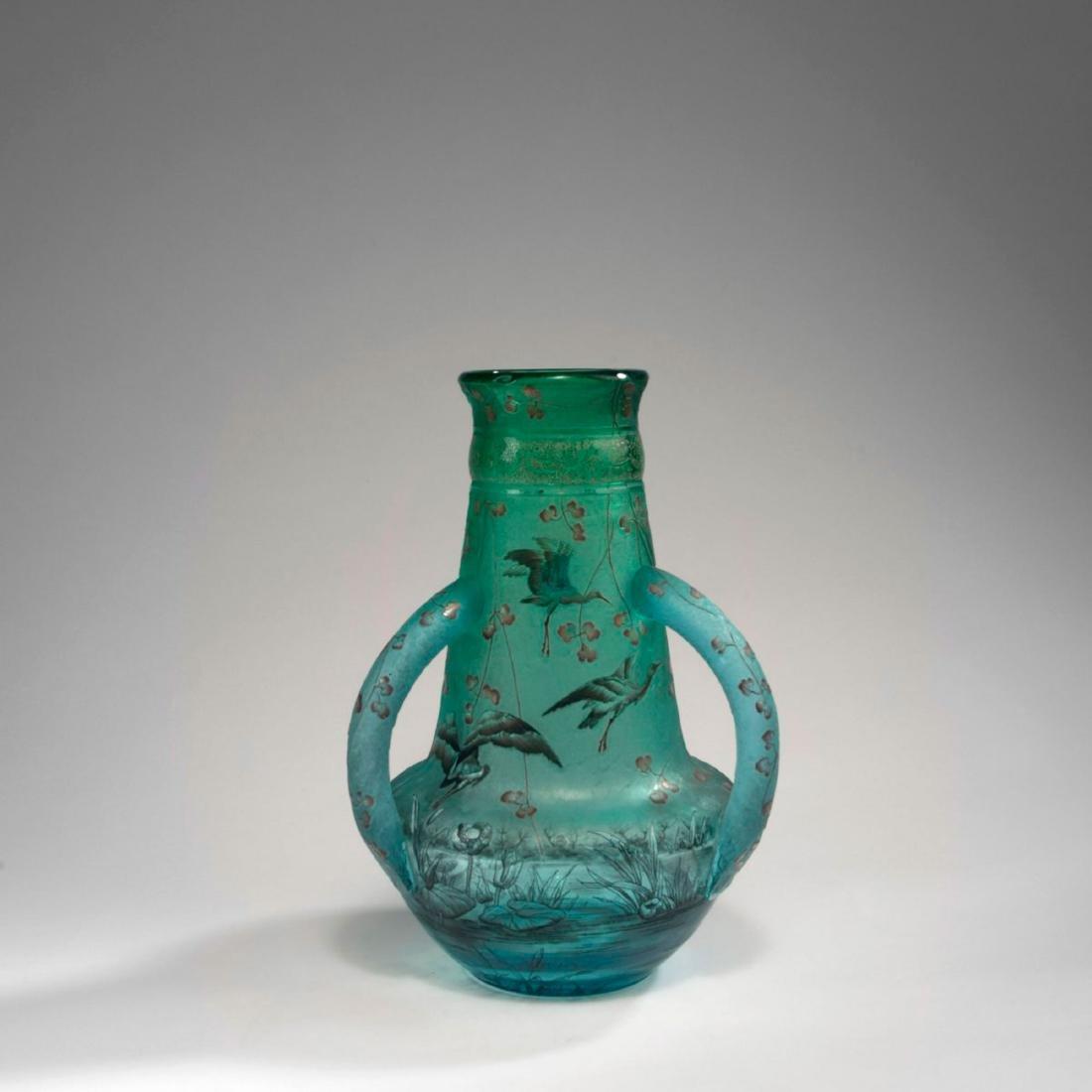 'Cigognes' vase with handles, 1895
