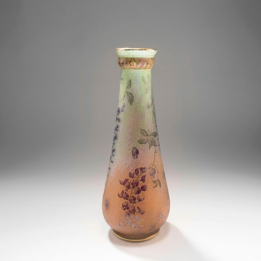 Tall 'Glycines' vase, 1895-1900 - 3