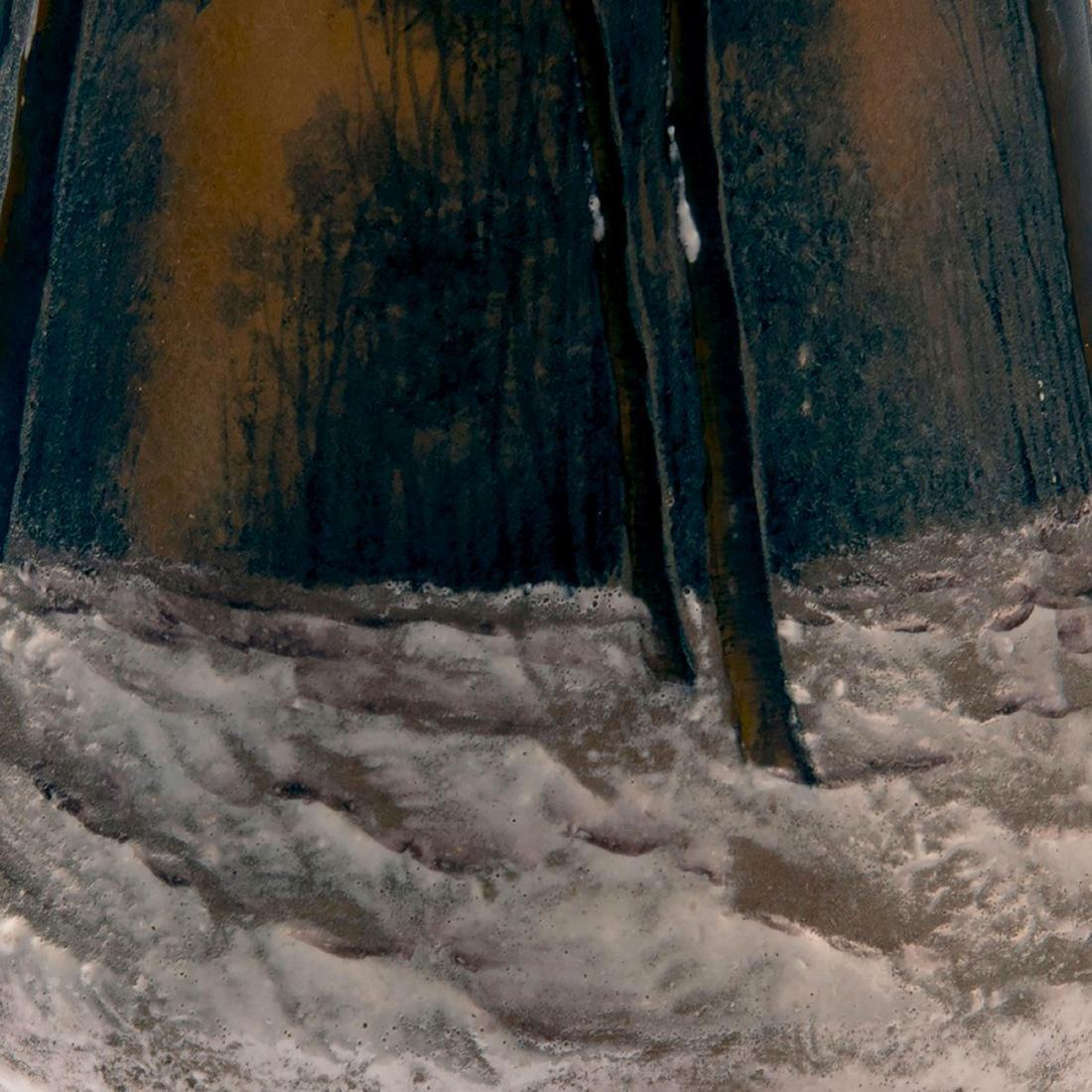 'Crépuscule sous la neige' or 'Arbres en hiver' vase, - 4