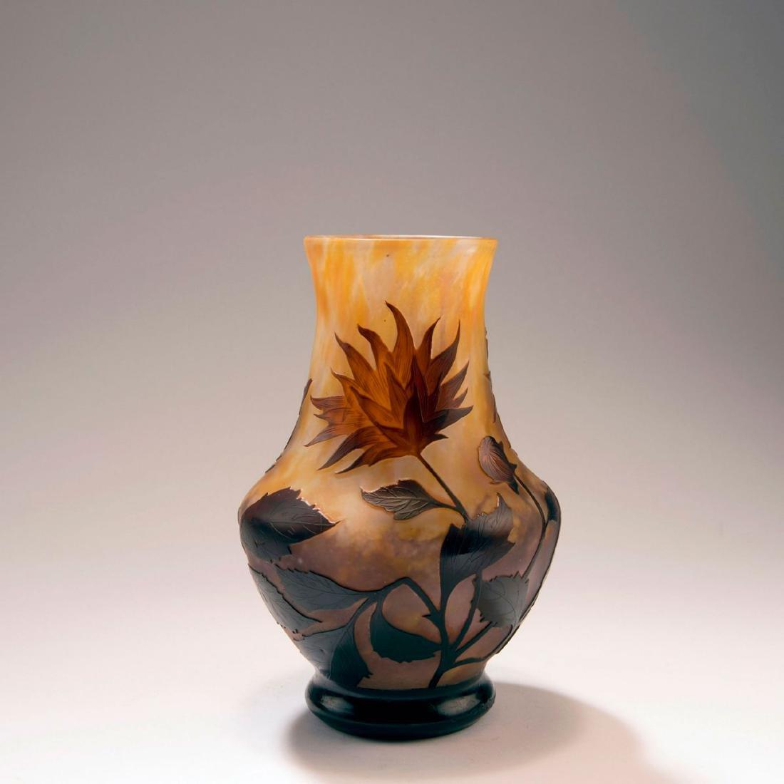 'Dahlias à Colerette' vase, c. 1909