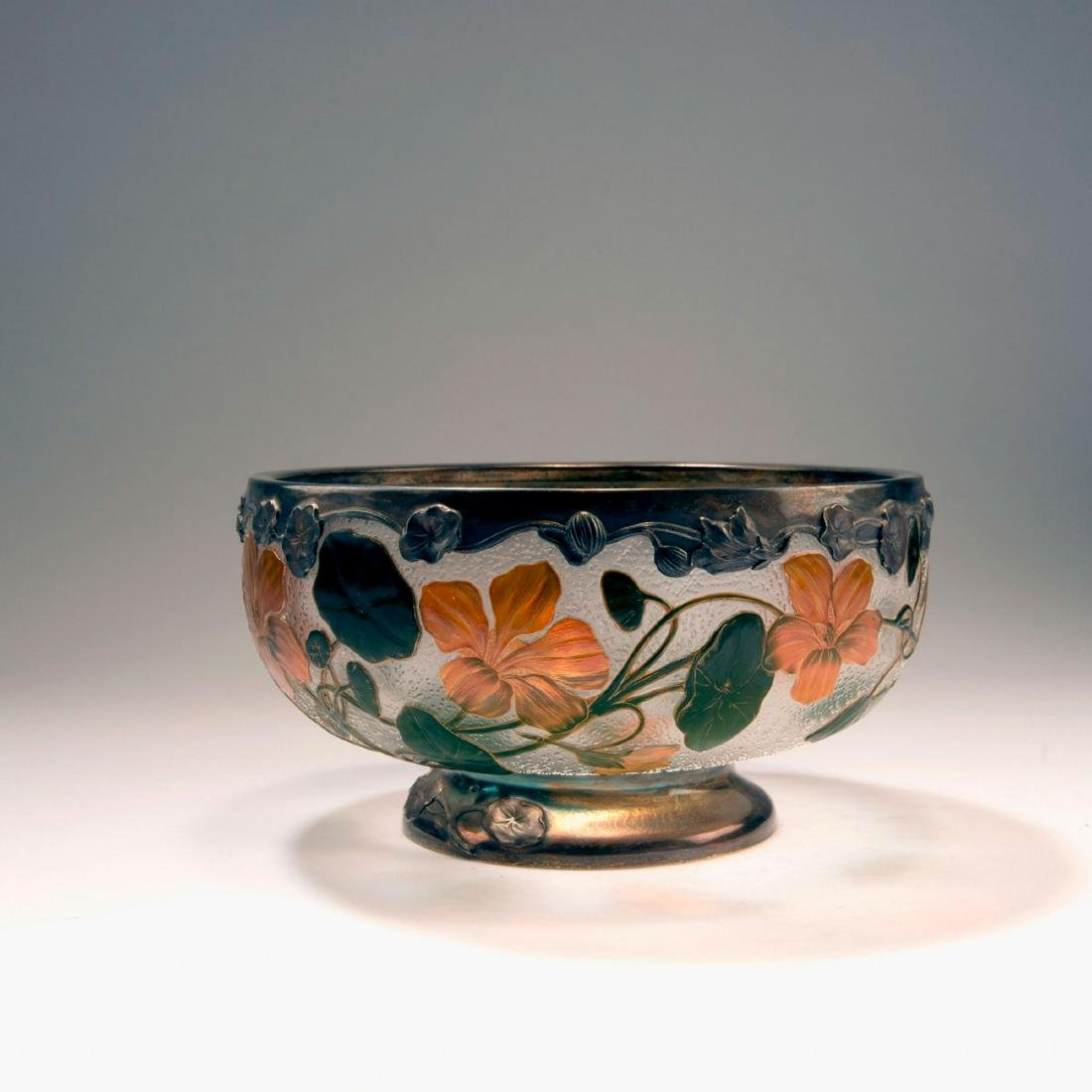 'Capucines' bowl with silver mounting, 1898-1900
