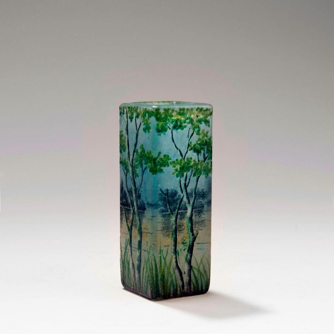 Small 'Paysage lacustre' vase, 1905-10