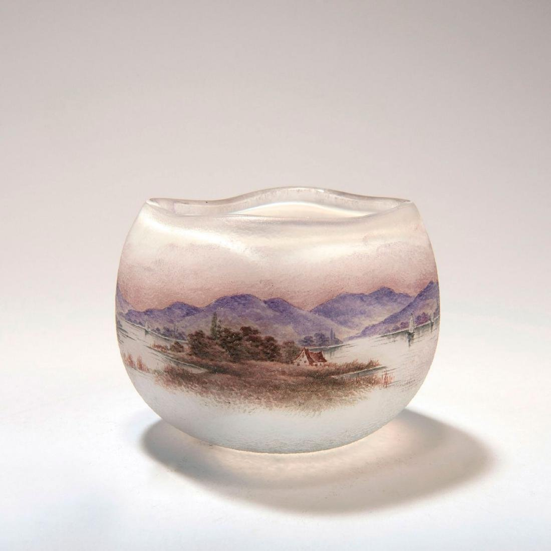 Small 'Paysage vosgien' vase, c. 1905