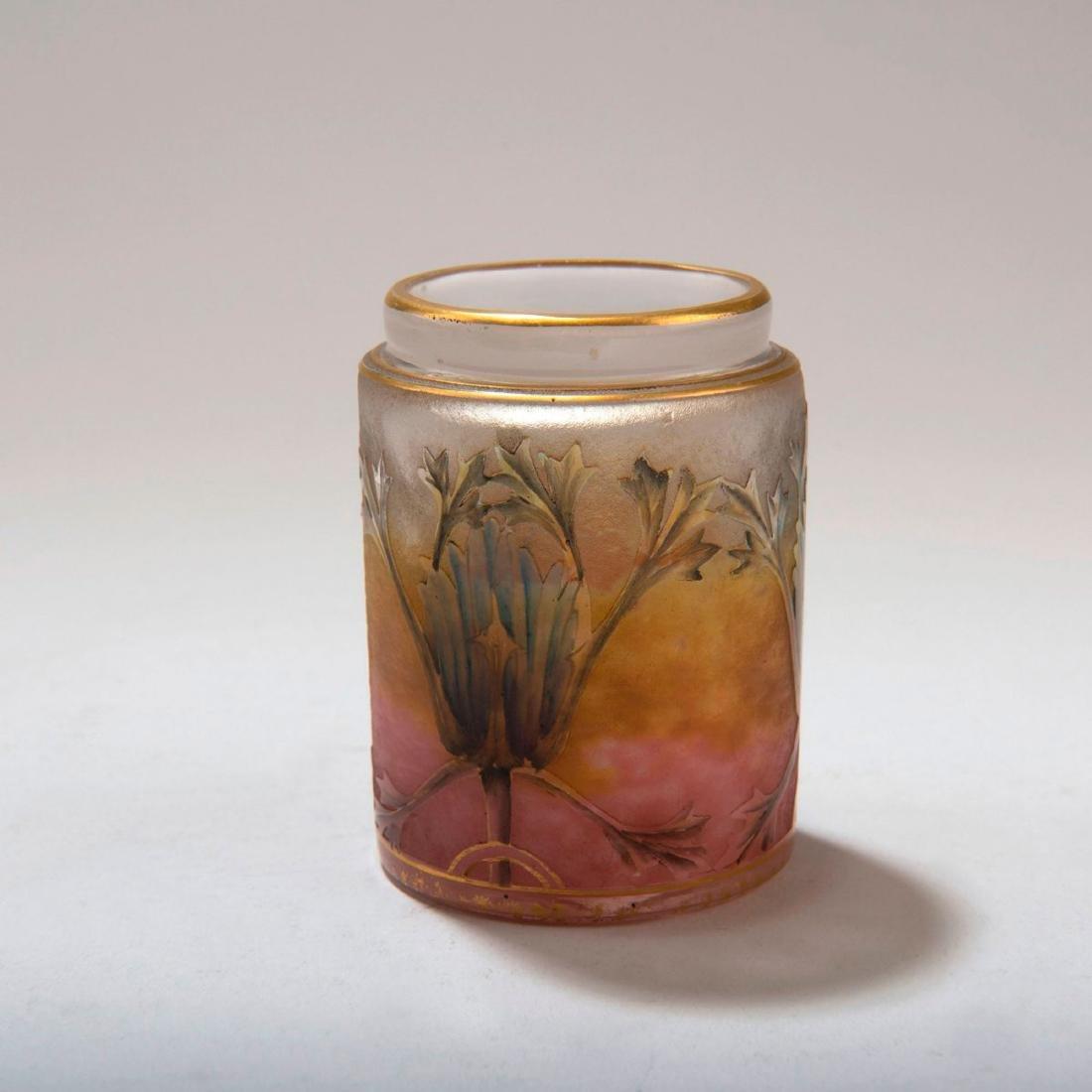 Small 'Chardons' jar, c. 1905