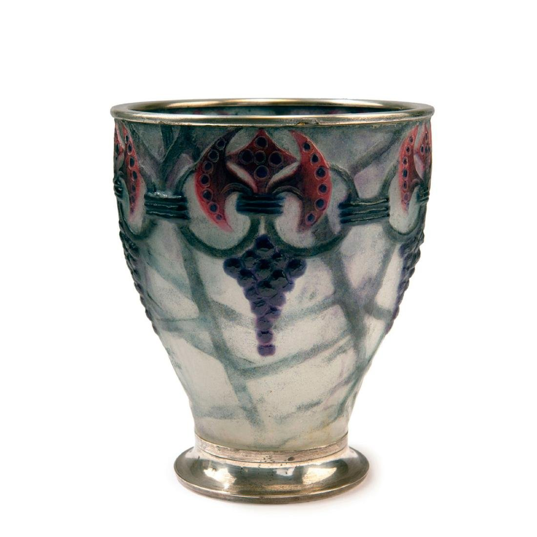 'Branches' vase with silver mounting, 1926