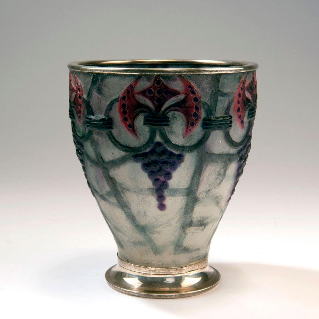 'Branches' vase with silver mounting, 1926 - 2