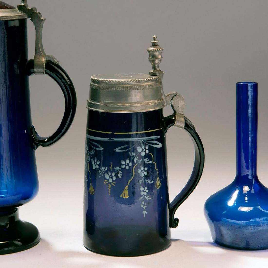 Mixed lot of glassware, 5 pieces, c. 1900 - 1920s - 4