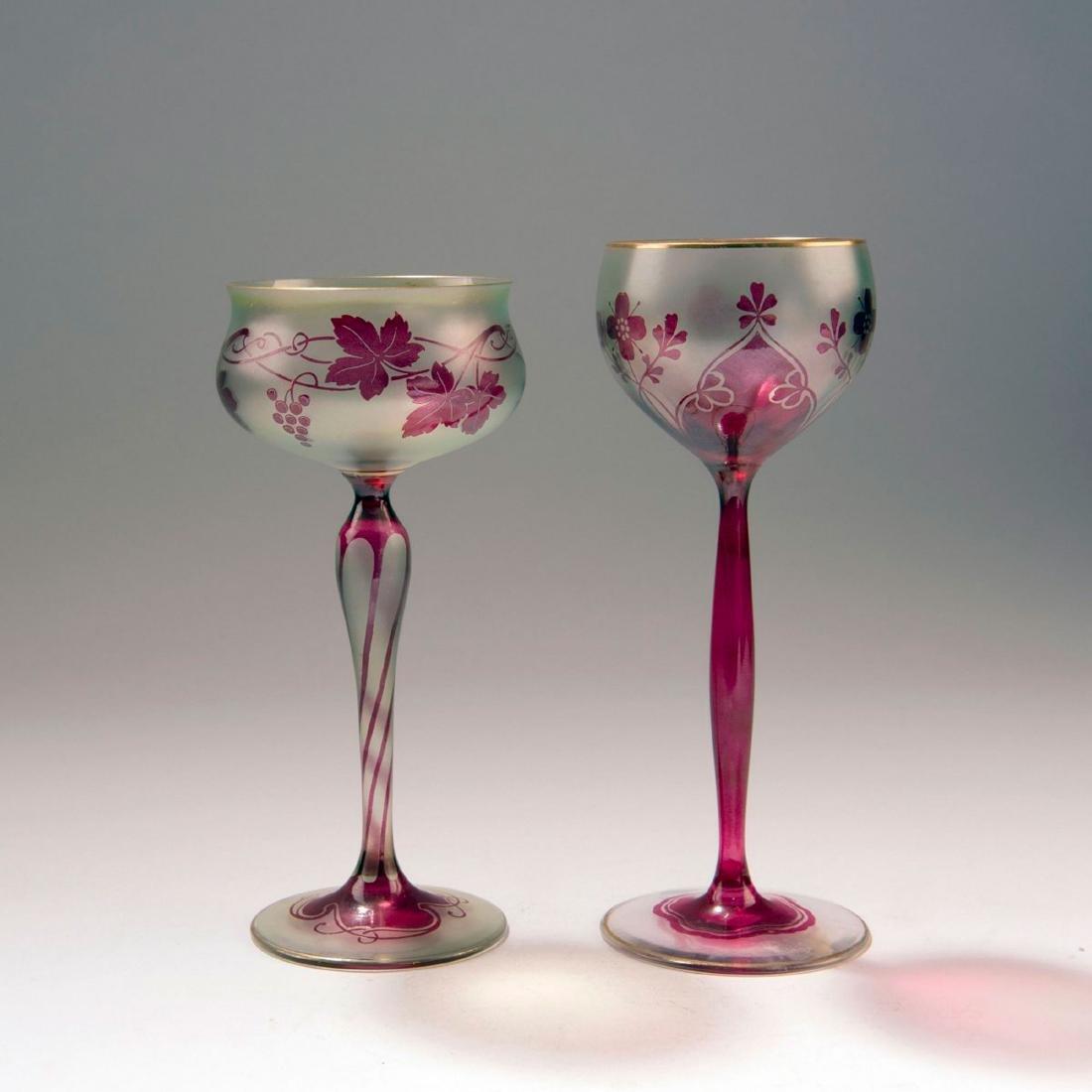 Two wine glasses, c. 1900