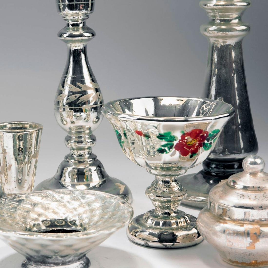 Mixed lot of silvered glass, 2nd half of the 19th - 2