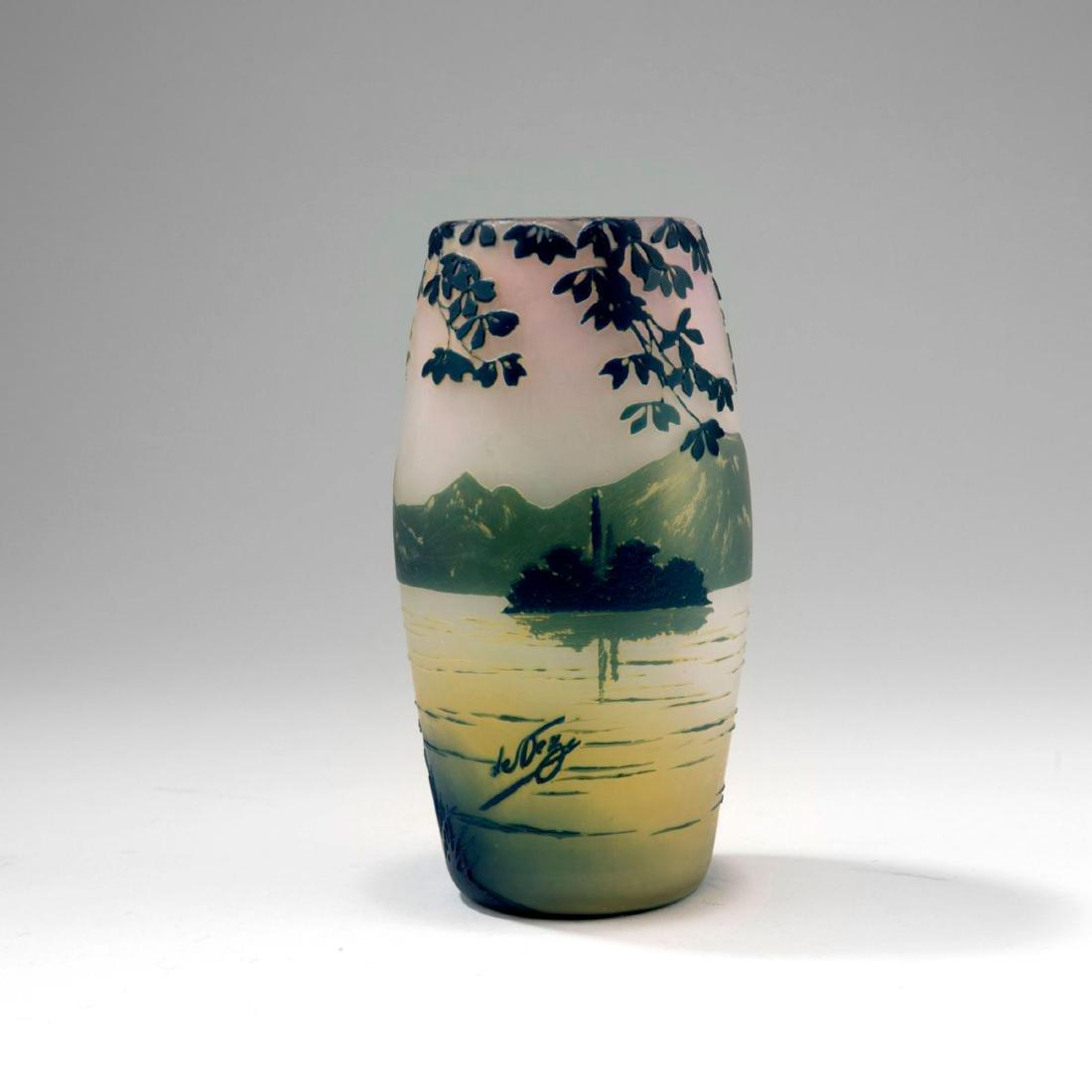 'Paysage lacustre' vase, 1915-20 - 2
