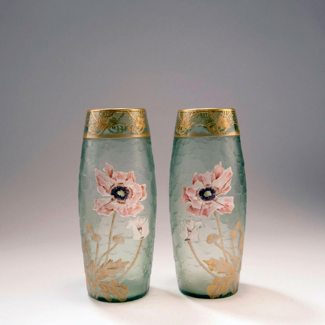 Pair of 'Pavots' vases, 1900