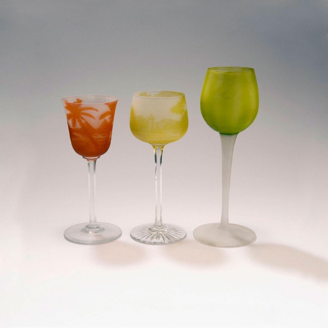 Three wine glasses, 1923-25