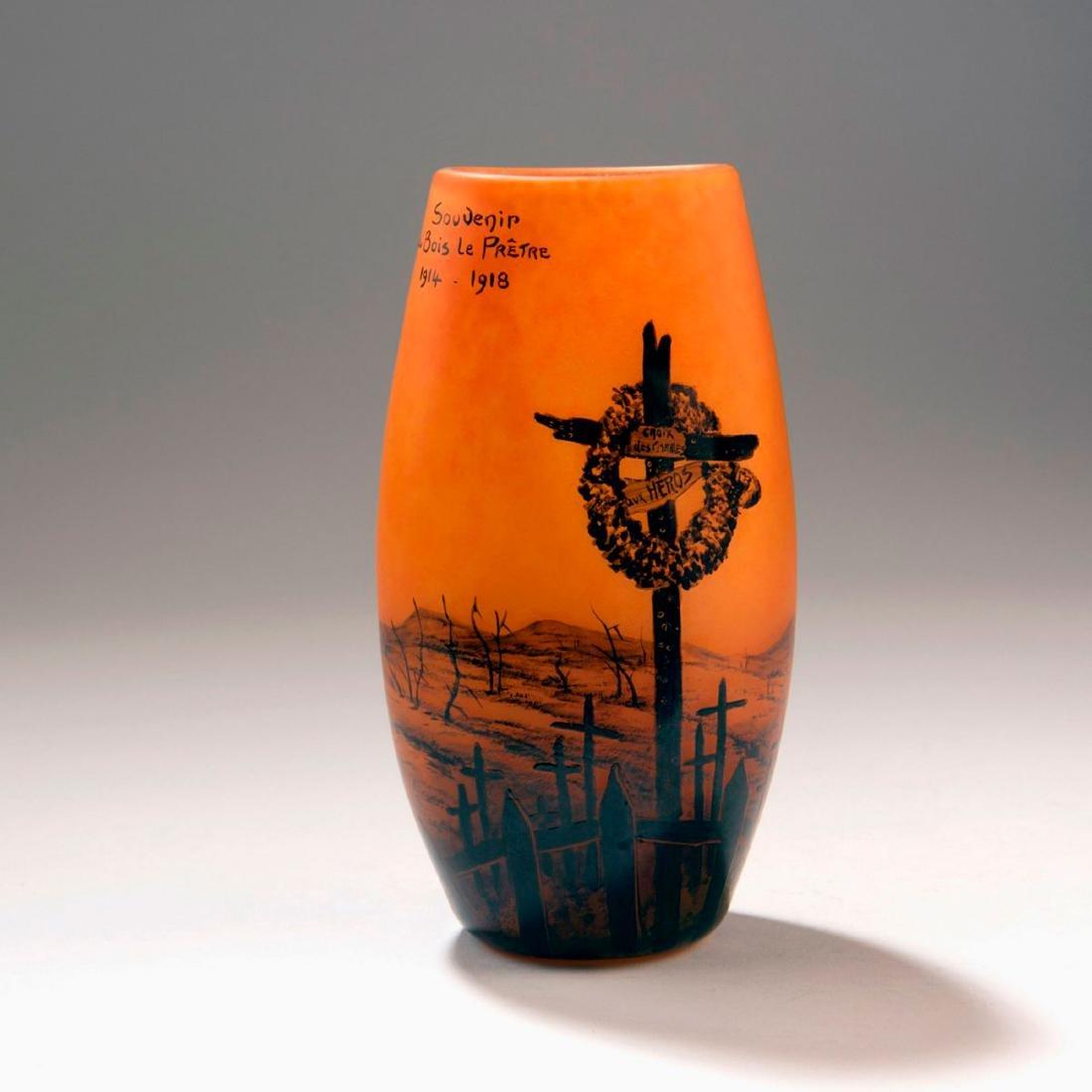 'Souvenir de Bois-le-Prêtre' vase, 1918