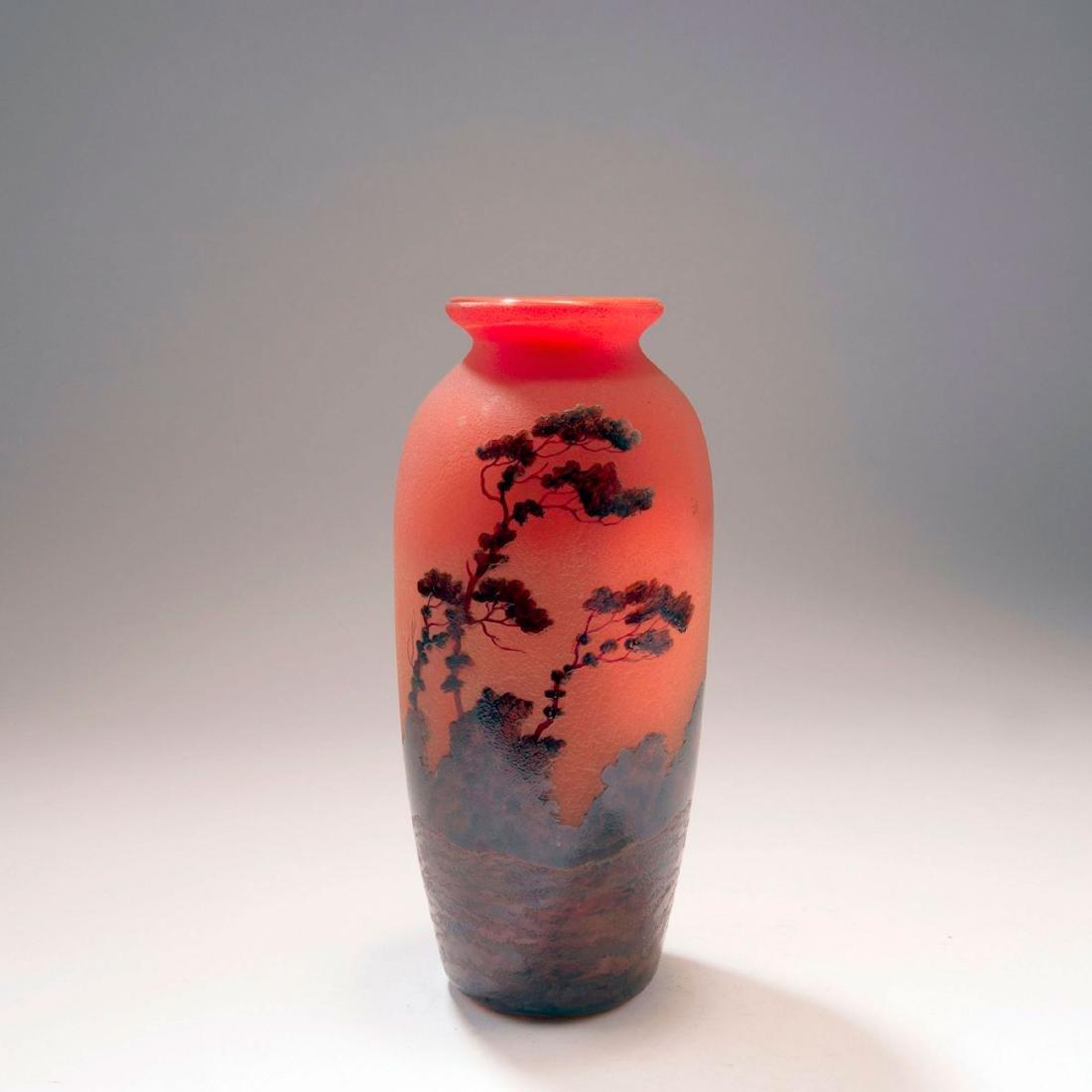 'Paysage, soleil couchant' vase, 1920s