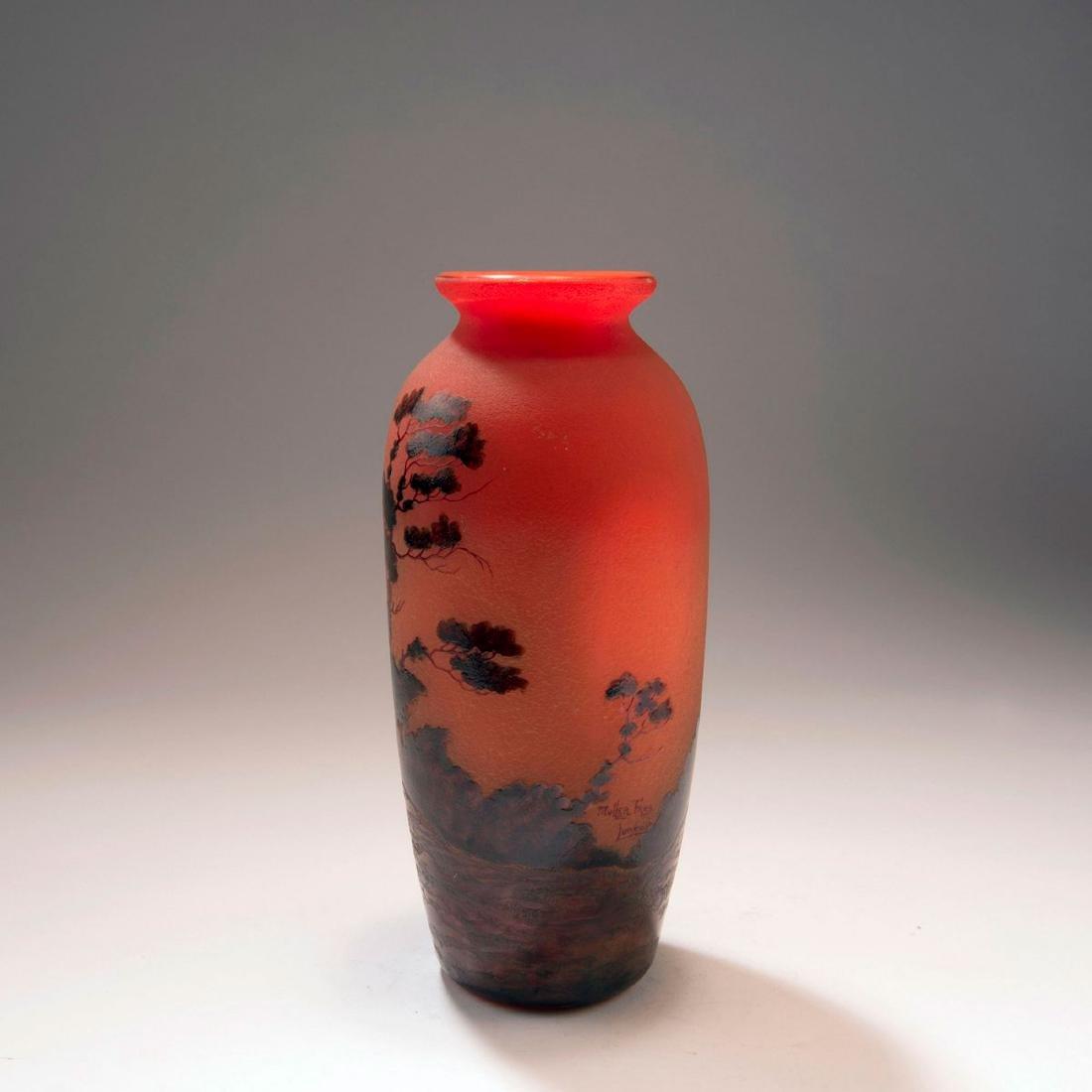 'Paysage, soleil couchant' vase, 1920s - 2