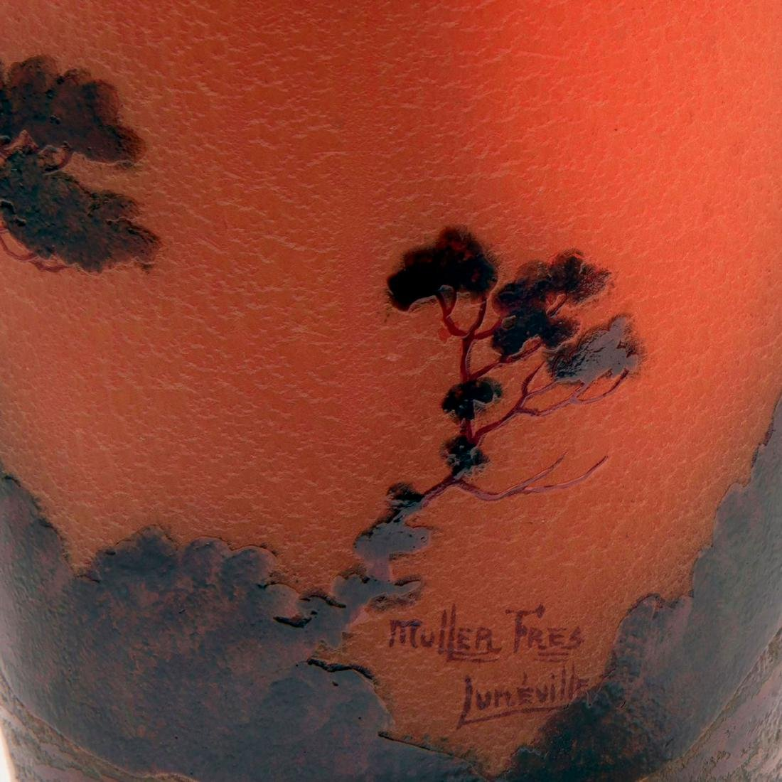 'Paysage, soleil couchant' vase, 1920s - 3