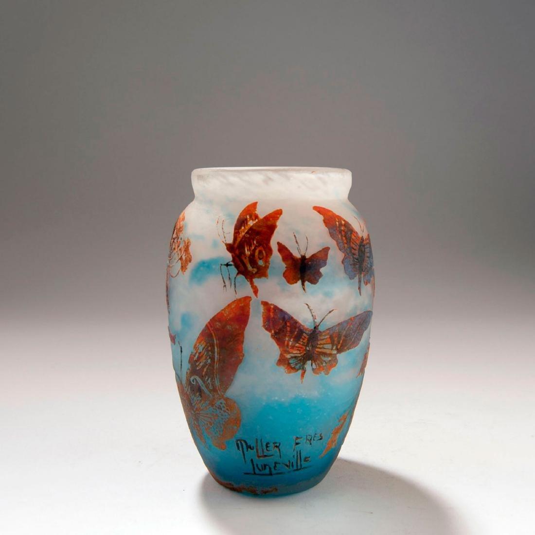'Les Papillons de Nuit' vase, c. 1925 - 2