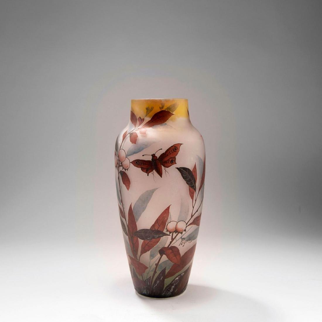 'Prunier et Papillon' vase, 1920s