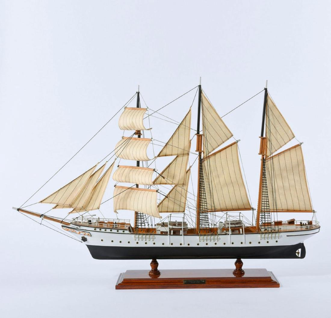 Model three-masted barque 'Mercator'