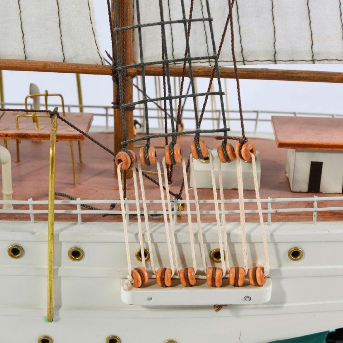 Model four-masted schooner 'J.S. Elcano' - 2