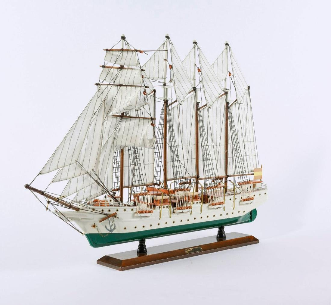 Model four-masted schooner 'J.S. Elcano' - 4