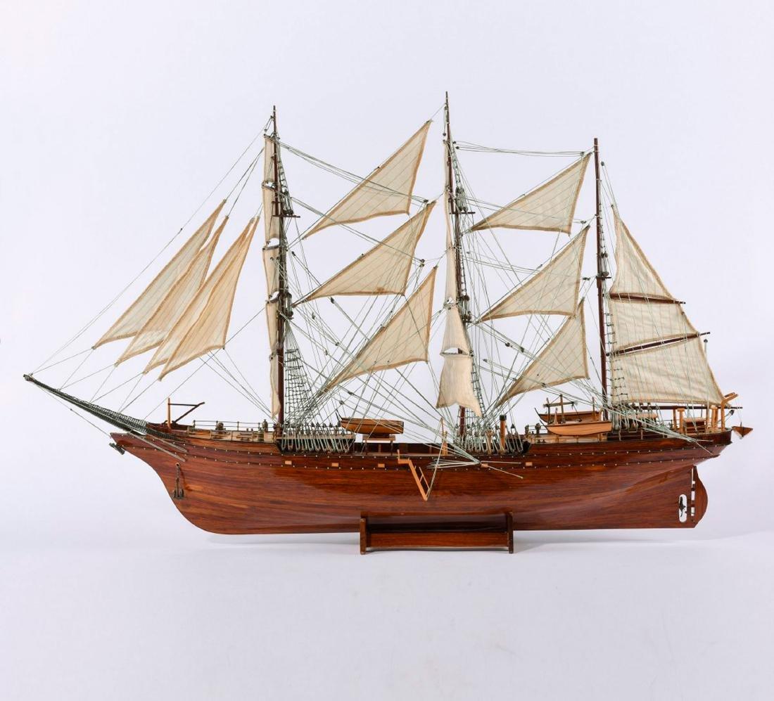 Model three-masted barque