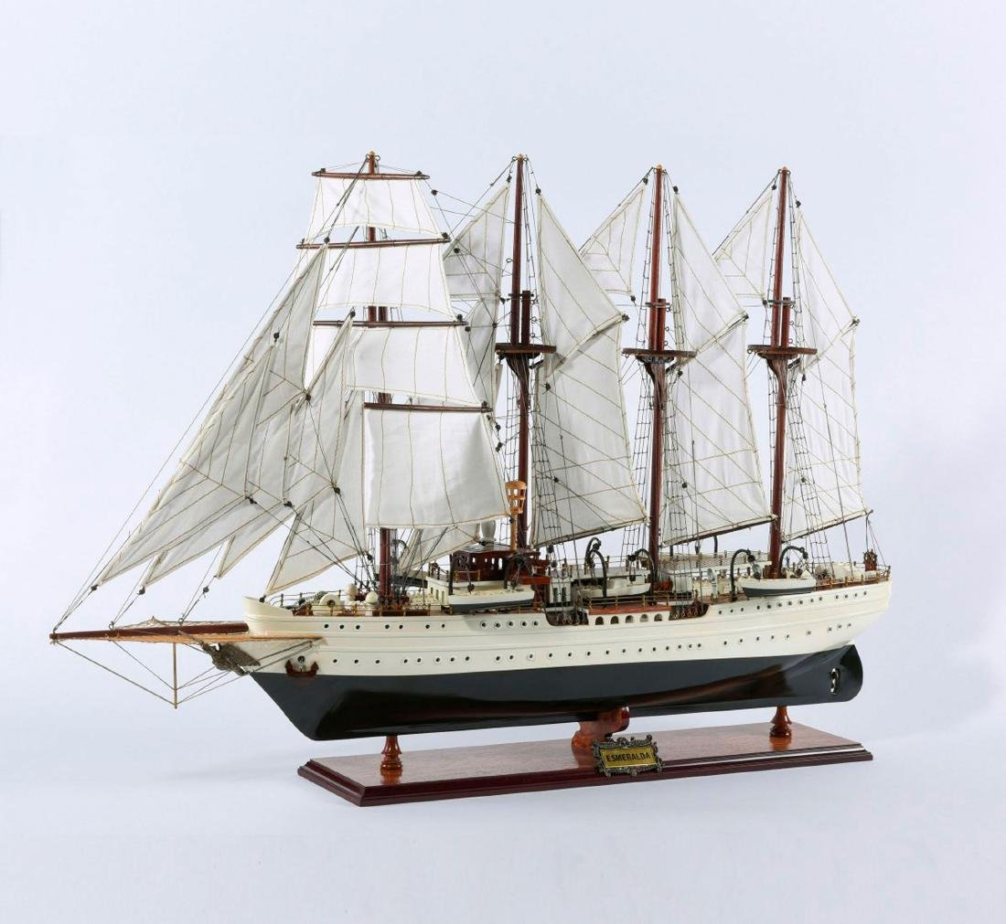 Model four-masted barque 'Esmeralda'