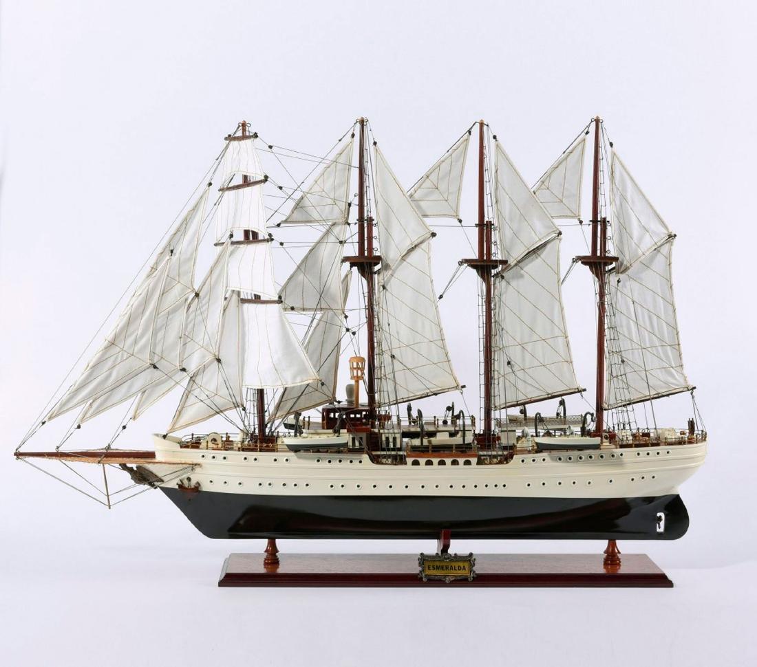 Model four-masted barque 'Esmeralda' - 2