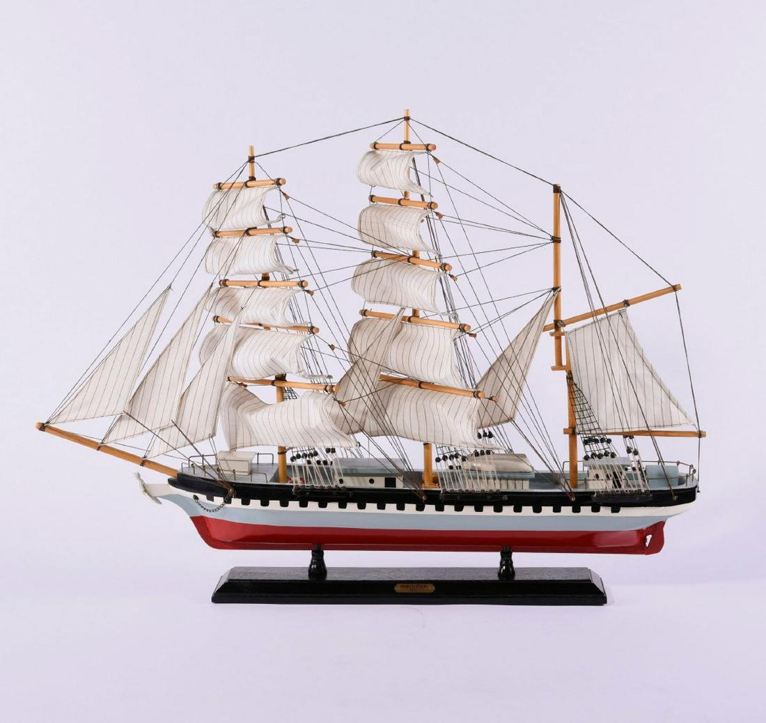 Model three-masted barque 'Marco Polo'