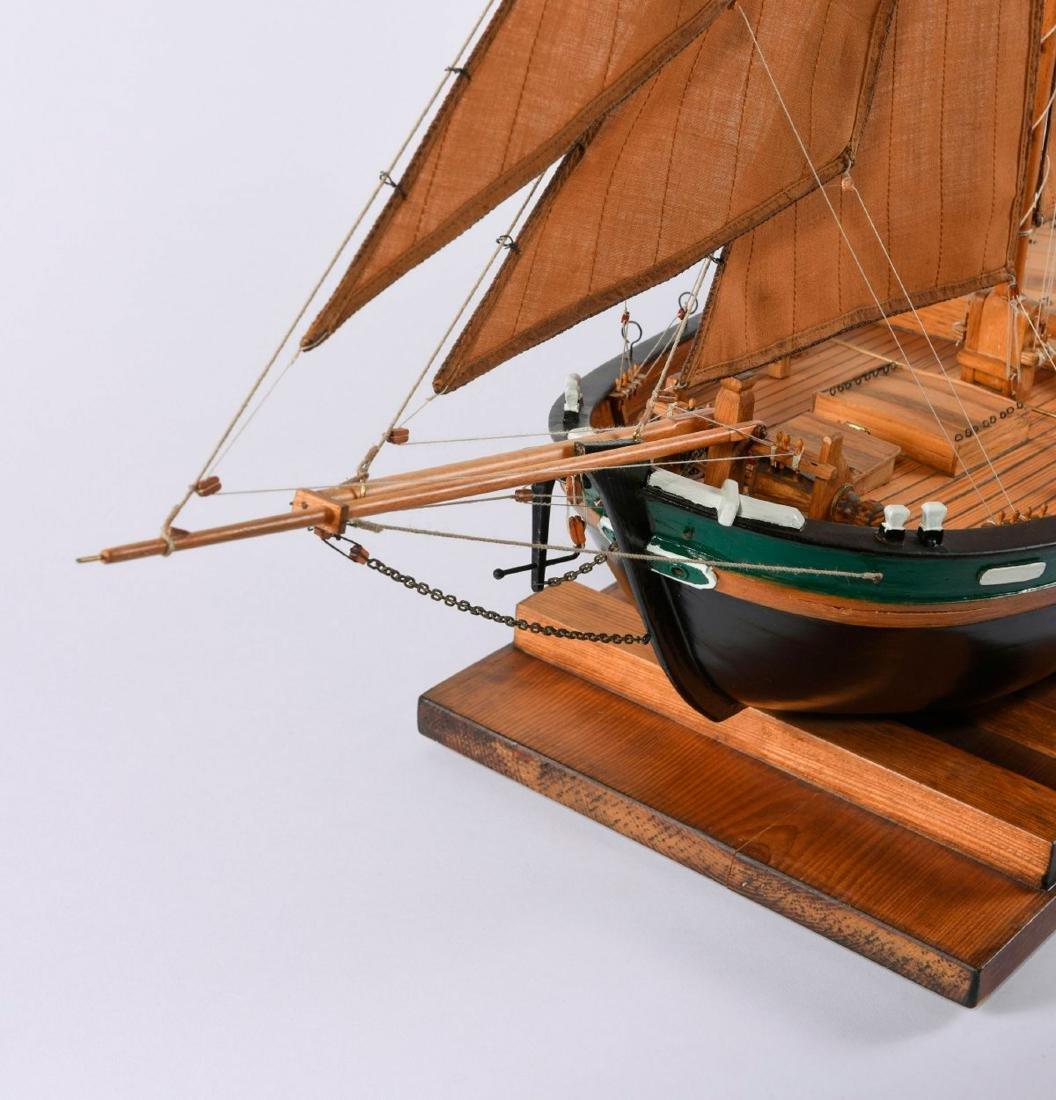 Model flat-bottomed boat 'Hermann' - 2