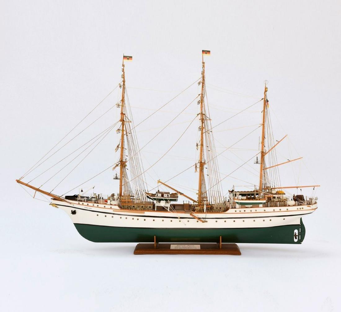 Model three-masted barque 'Gorch Fock'