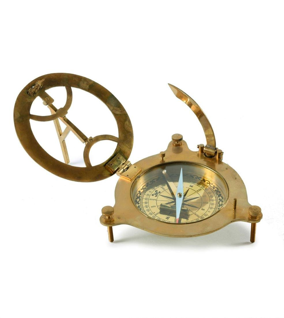 Compass with sundial