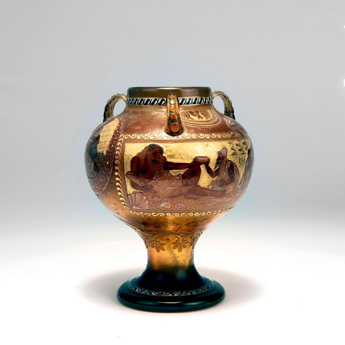 'Echoes of Hellas' vase with handles, 1895-1900