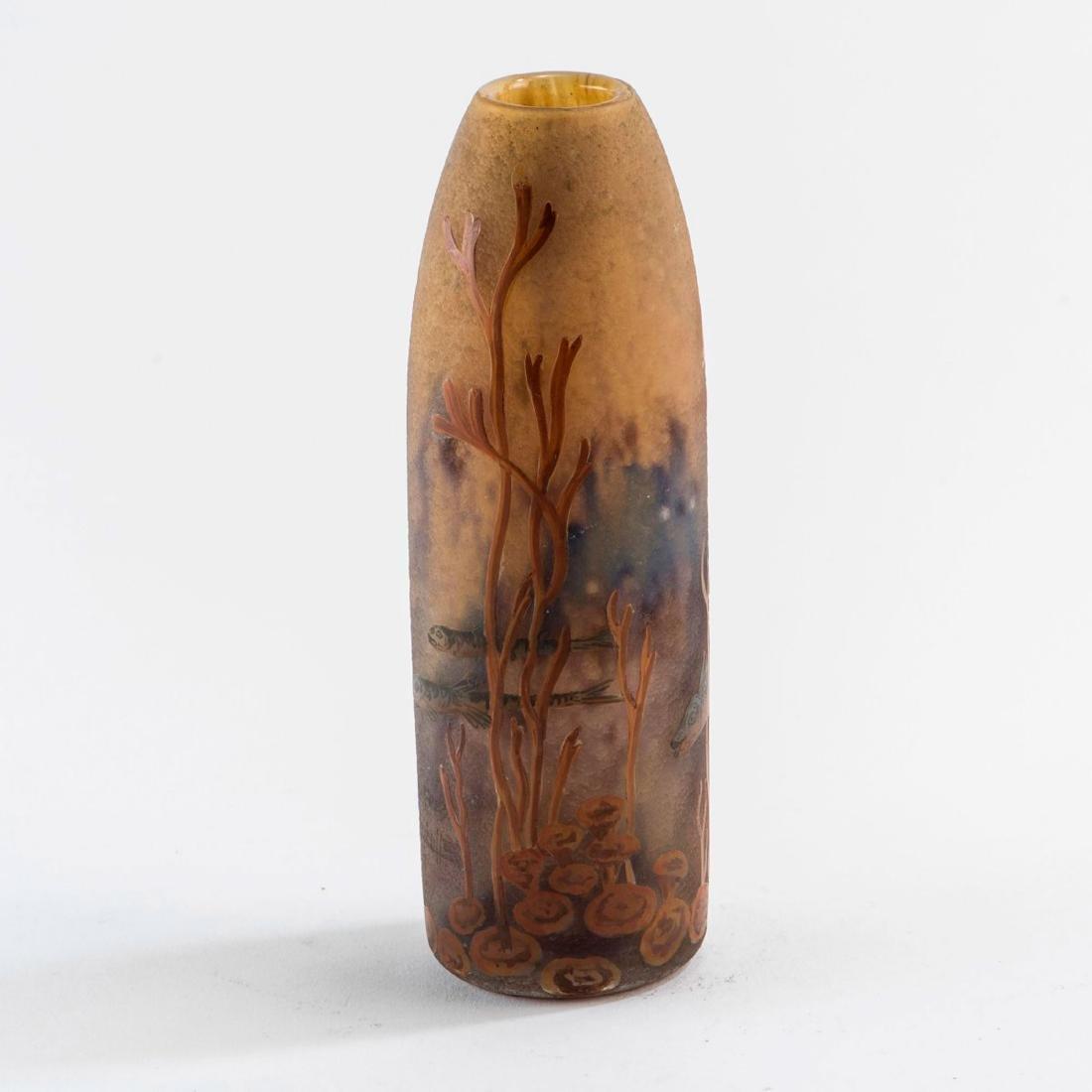 'Poissonss et algues' vase, 1920s - 2