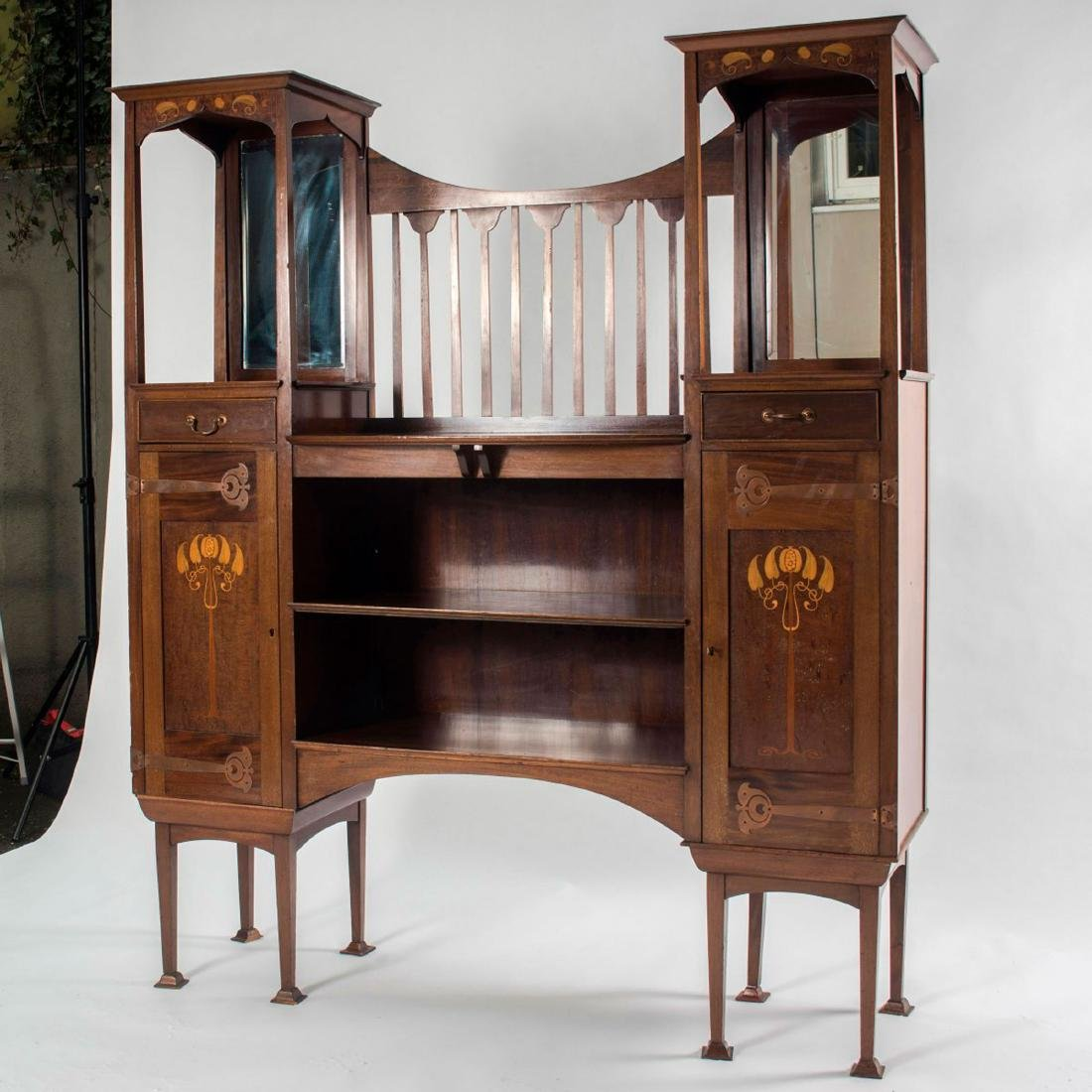 Display cabinet, c1905-10 - 2