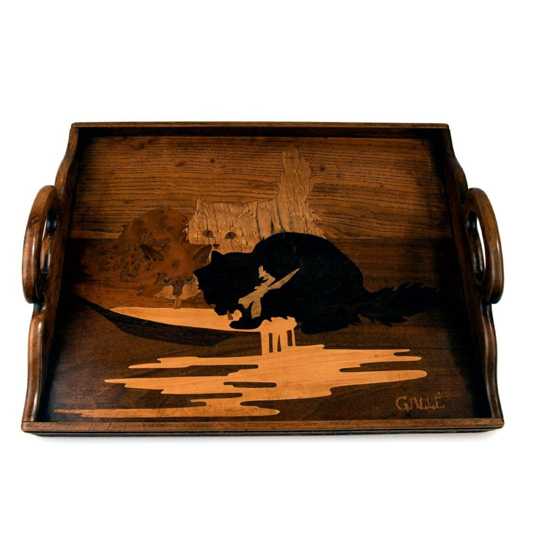 'Trois chats' tray, c. 1905