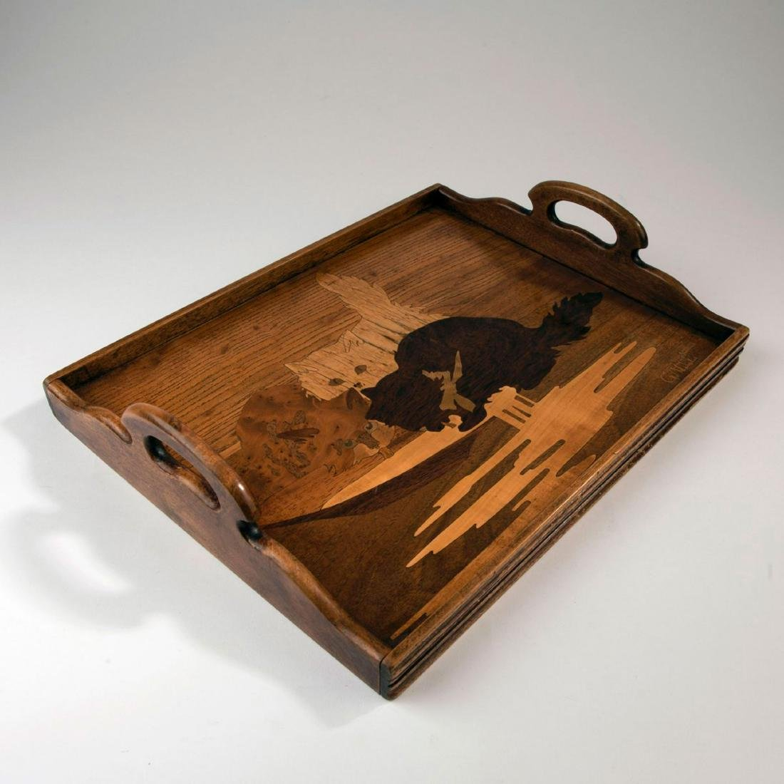 'Trois chats' tray, c. 1905 - 2