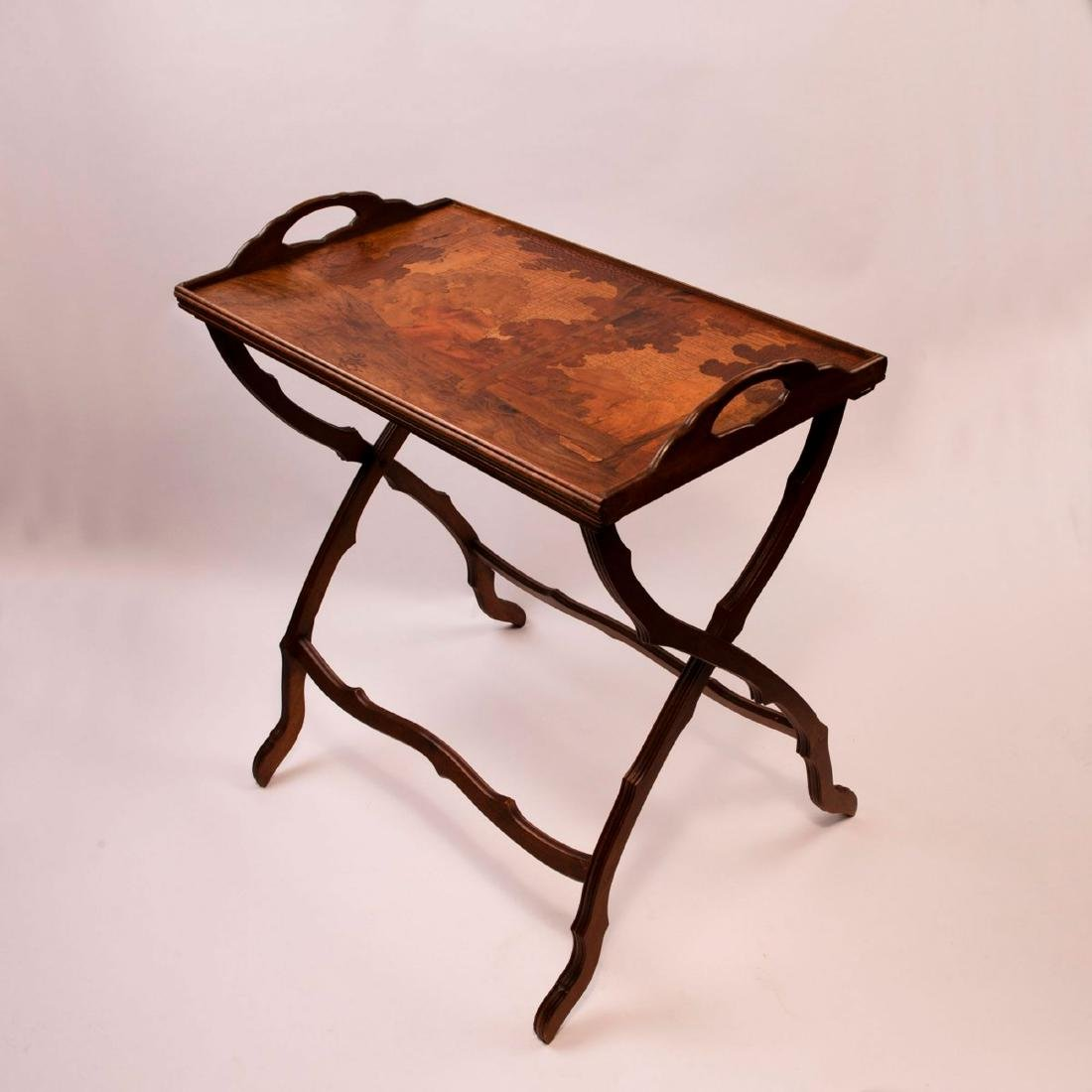 Folding table with tray, c. 1910