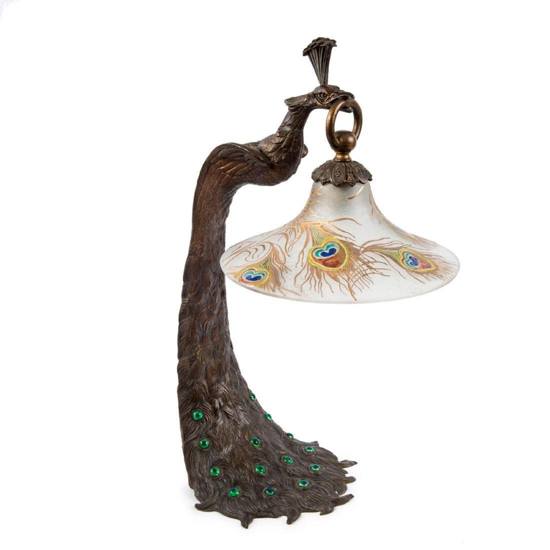 'Paon' table light, c. 1910