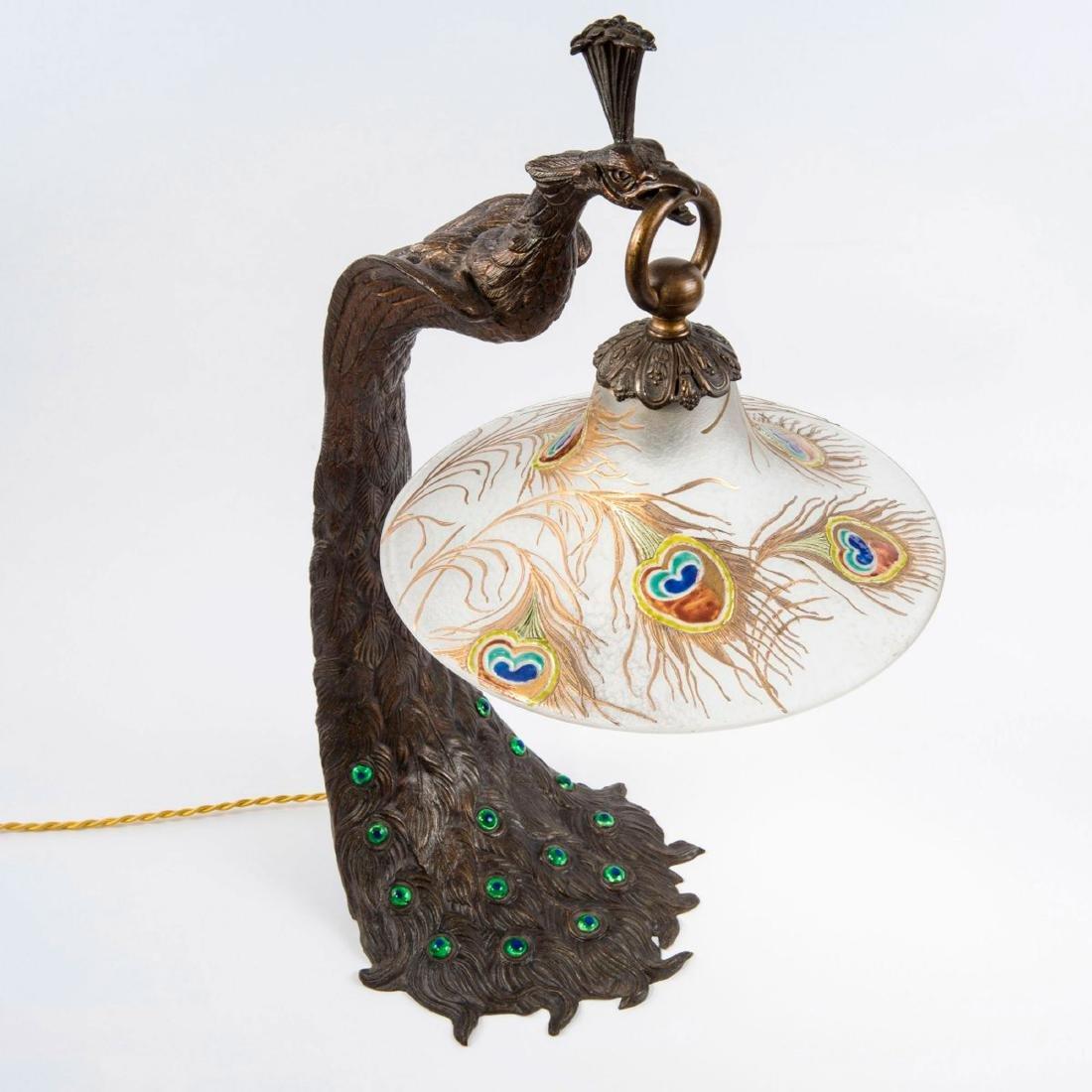 'Paon' table light, c. 1910 - 3