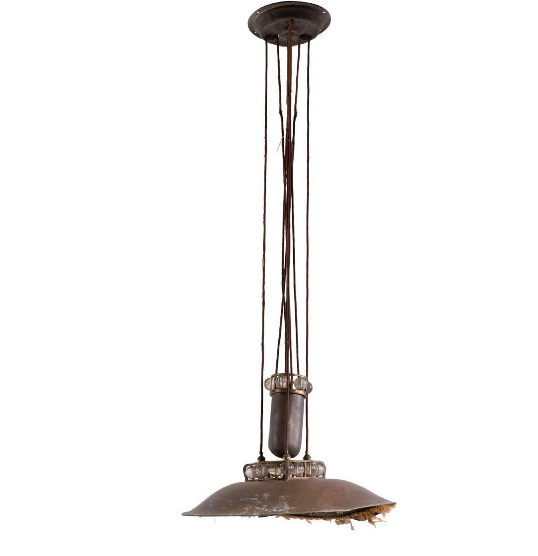 Extensible ceiling light, c. 1910