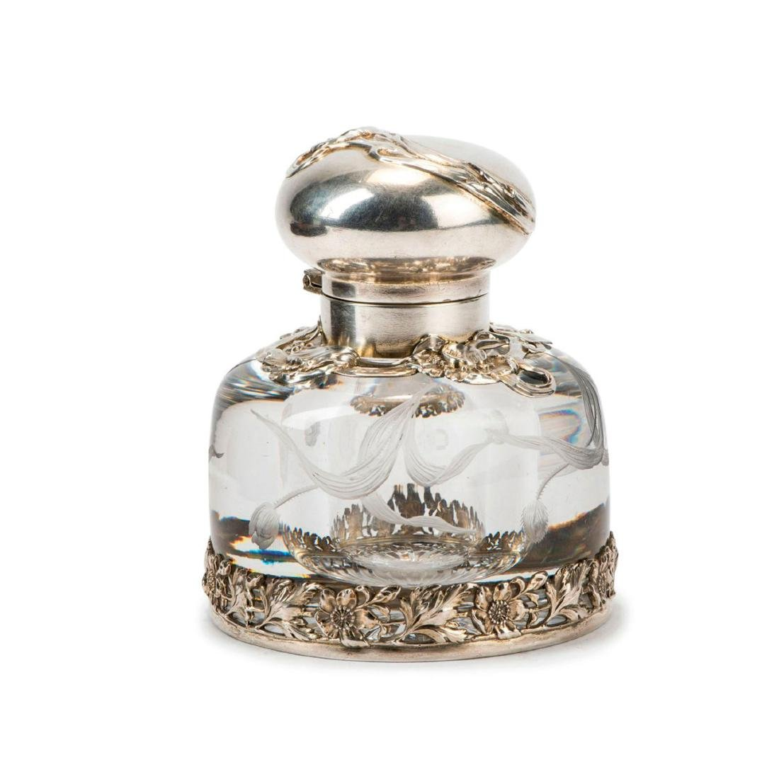 Inkwell with silver mounting, 1920s
