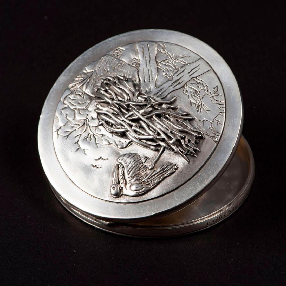 'Stork's nest' compact, 1930s - 2