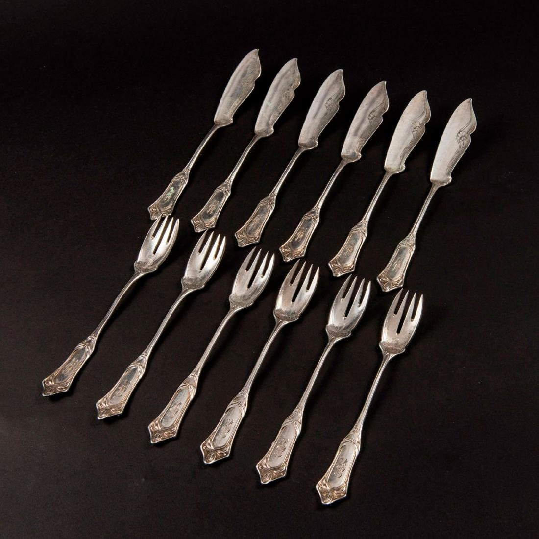 '2651' fish cutlery, 1900 - 4