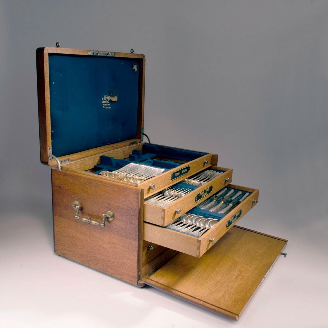 '3001' cutlery in original wooden box, 1901/02